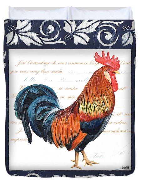 Indigo Rooster 1 Duvet Cover