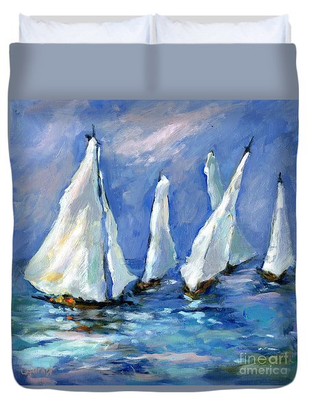 Indigo Seas Duvet Cover