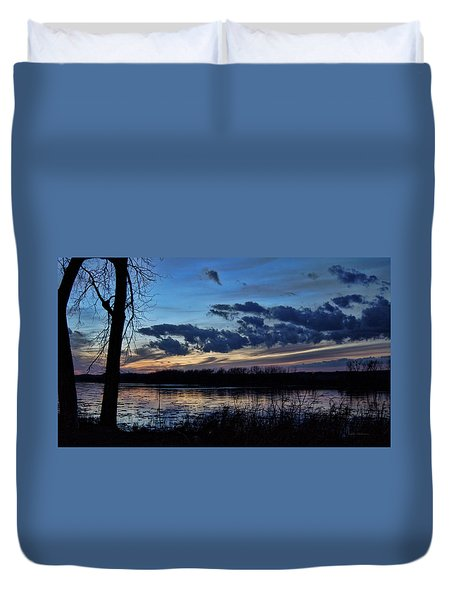 Duvet Cover featuring the photograph Indigo Skies by Cricket Hackmann