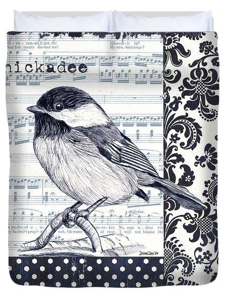 Indigo Vintage Songbird 2 Duvet Cover