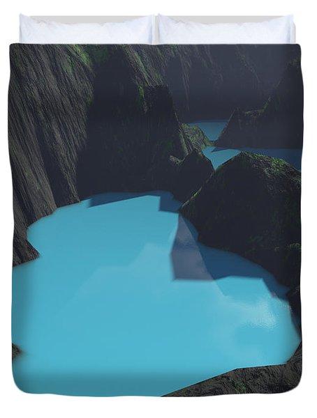 Indonesian Crater Lakes Duvet Cover by Gaspar Avila