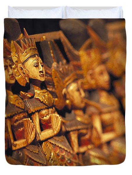 Indonesian Dolls Duvet Cover by Dana Edmunds - Printscapes