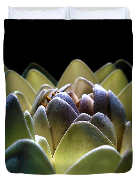 Indonesian White Lotus Duvet Cover