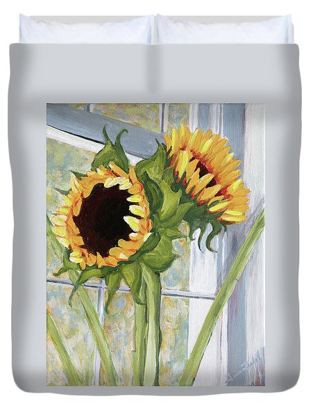 Indoor Sunflowers II Duvet Cover