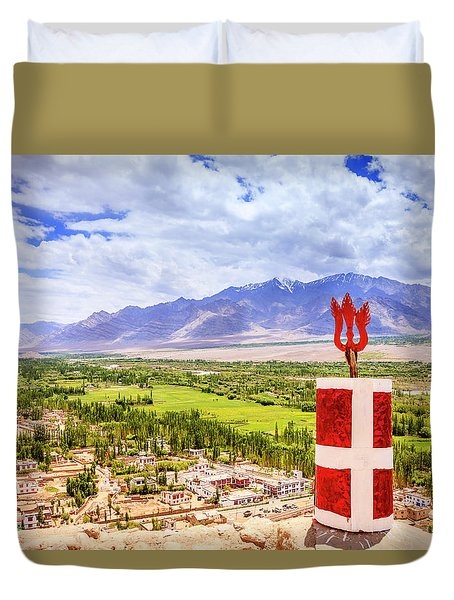 Duvet Cover featuring the photograph Indus Valley by Alexey Stiop