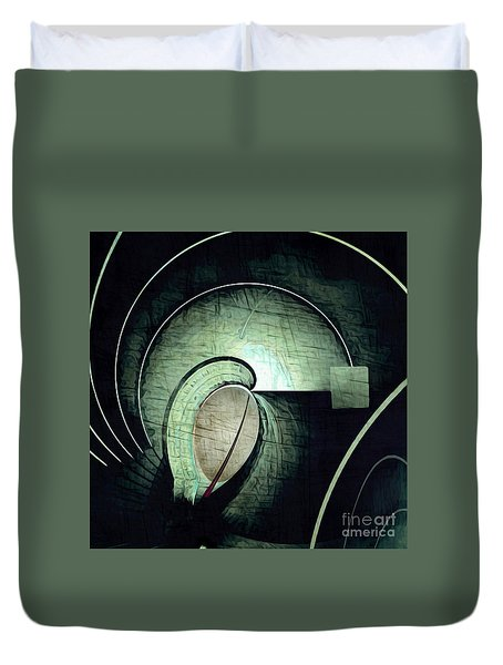 Industrial Arch Grey Duvet Cover