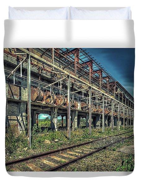 Industrial Archeology Railway Silos - Archeologia Industriale Silos Ferrovia Duvet Cover