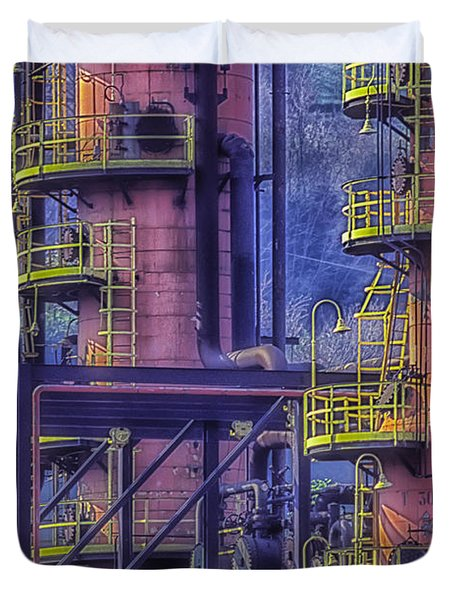 Industrial Archeology Refinery Plant 04 Duvet Cover
