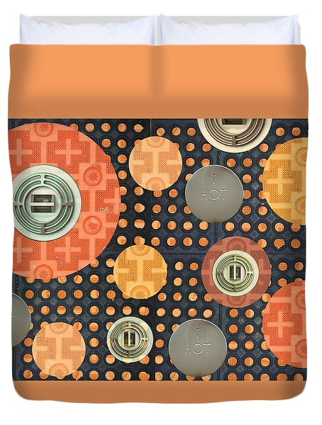 Industrial Art Skid And Restaurant Mat Duvet Cover by Suzanne Powers