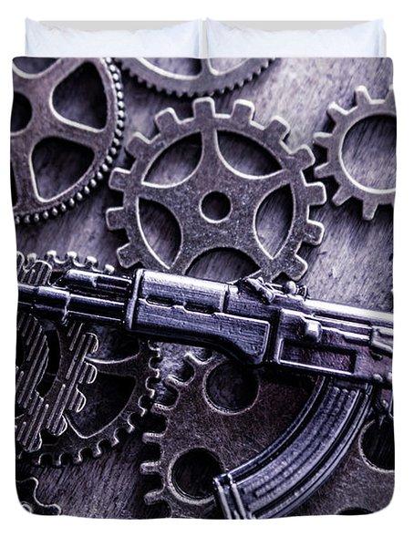 Industrial Firearms  Duvet Cover