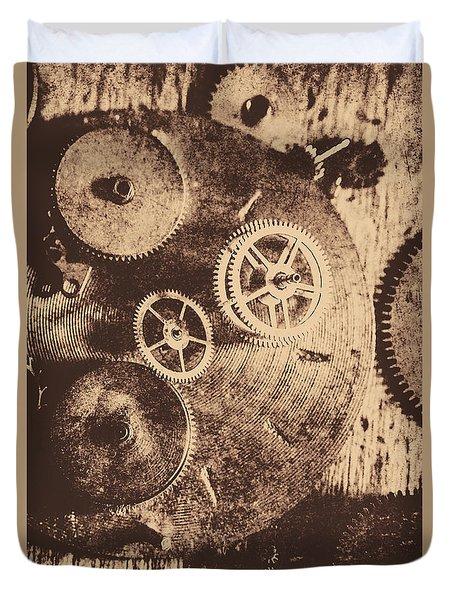 Industrial Gears Duvet Cover