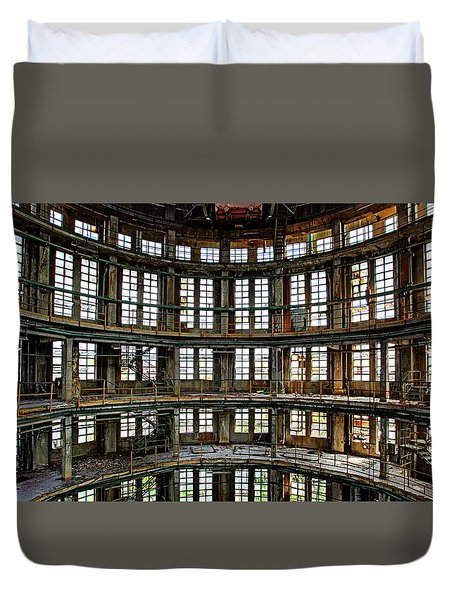 Duvet Cover featuring the photograph Industrial Heritage - Urban Exploration by Dirk Ercken