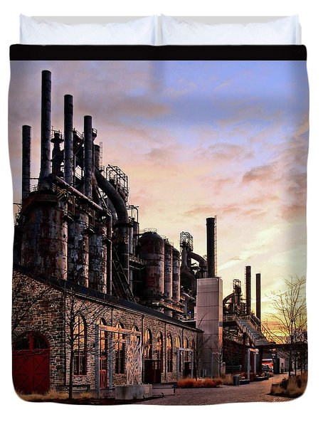 Industrial Landmark Duvet Cover