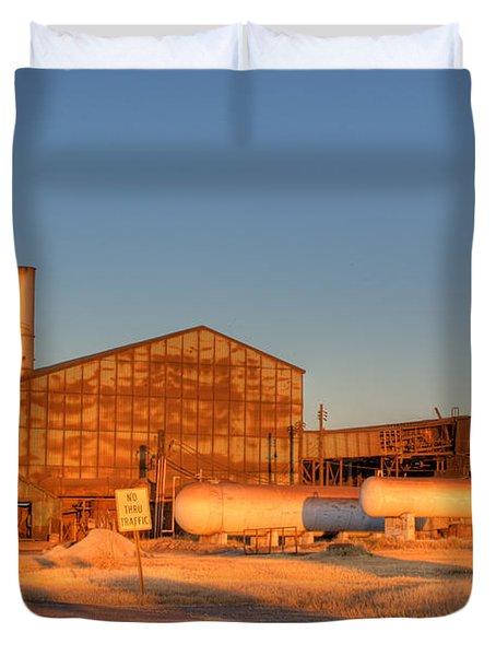 Industrial Site 1 Duvet Cover by Douglas Barnett
