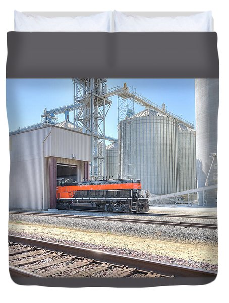 Duvet Cover featuring the photograph Industrial Switcher 5405 by Jim Thompson