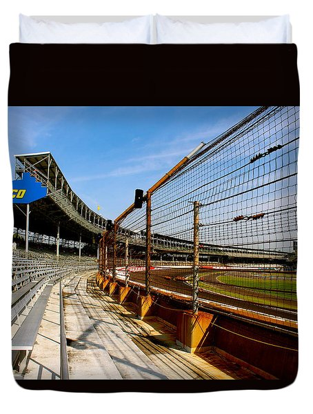 Duvet Cover featuring the photograph Indy  Indianapolis Motor Speedway by Iconic Images Art Gallery David Pucciarelli