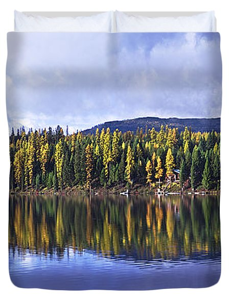 Duvet Cover featuring the photograph Inez Lake Montana by Janie Johnson