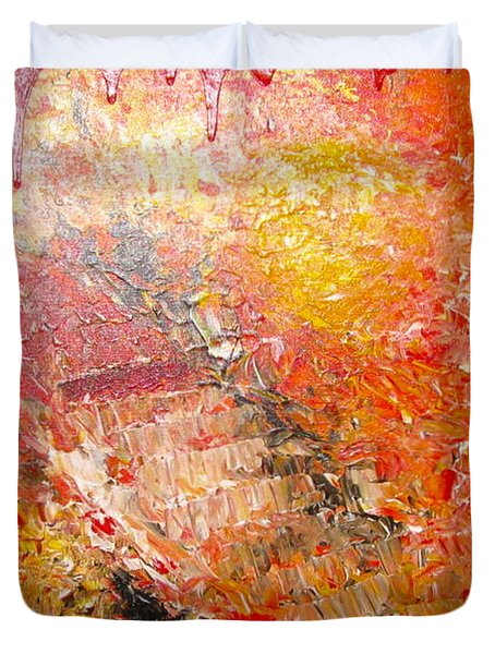 Inferno Duvet Cover by Jacqueline Athmann