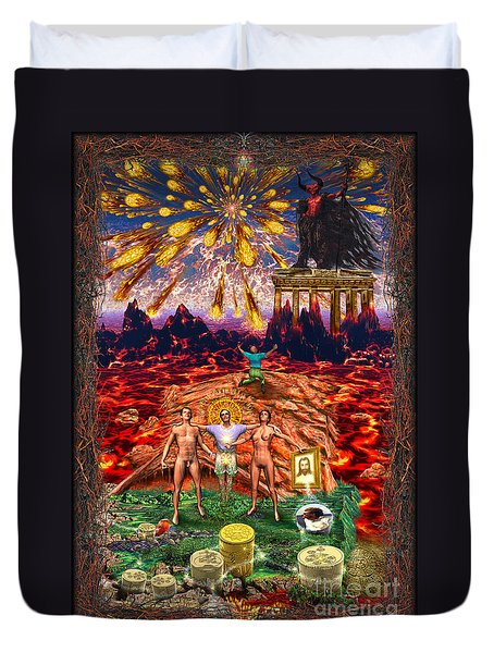 Inferno Of Messages Duvet Cover