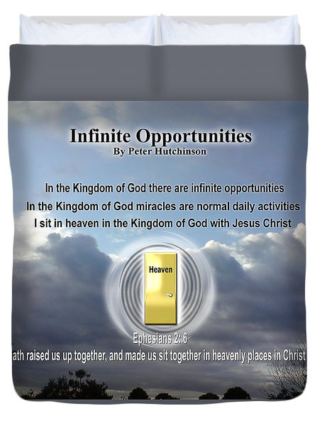 Infinite Opportunities Duvet Cover