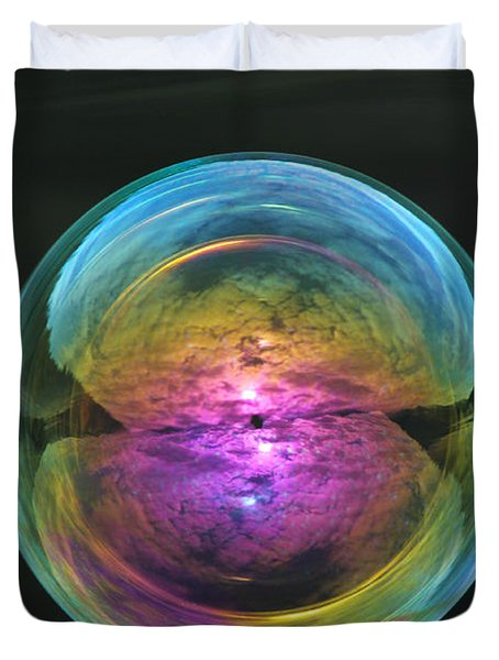 Infinite Reflections Duvet Cover by Cathie Douglas