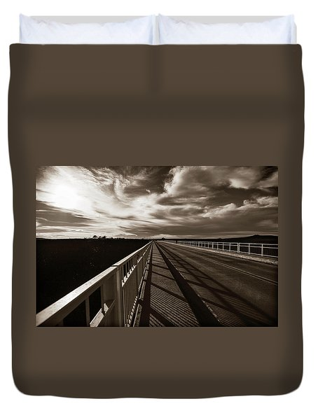 Duvet Cover featuring the photograph Infinity by Marilyn Hunt