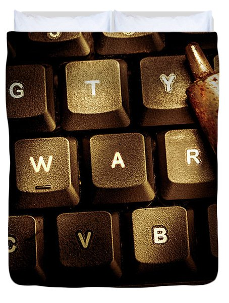 Information War Duvet Cover