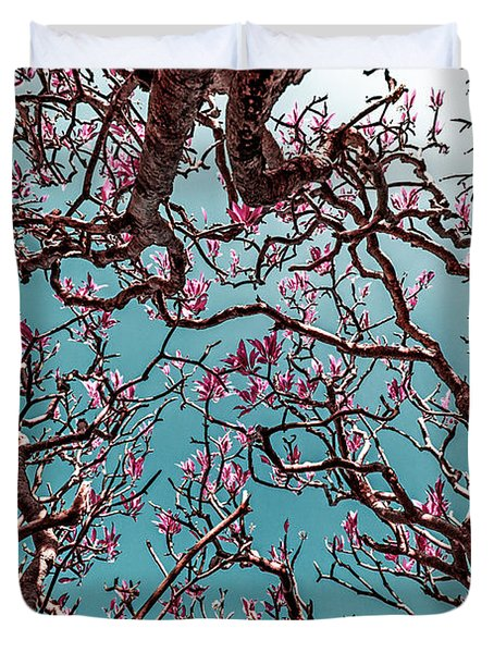 Infrared Frangipani Tree Duvet Cover