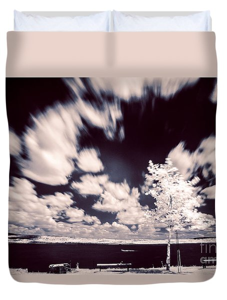 Duvet Cover featuring the photograph Infrared Lake by Odon Czintos