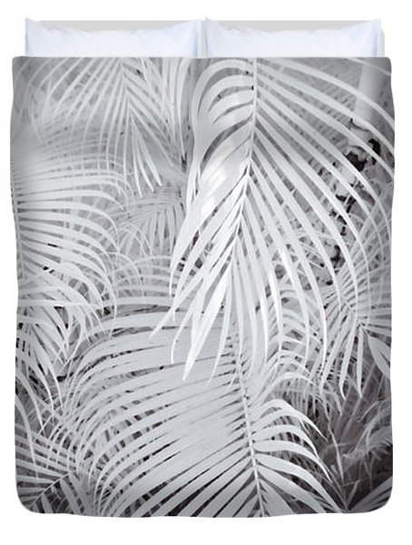 Infrared Palm Abstract Duvet Cover by Adam Romanowicz