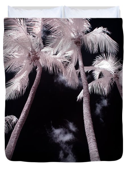 Infrared Palm Trees Duvet Cover by Adam Romanowicz