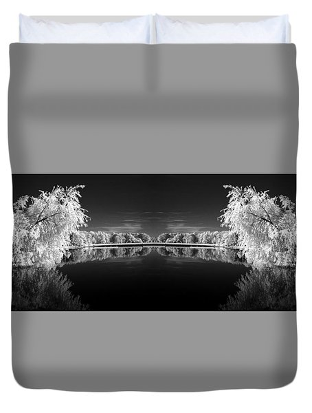 Infrared Reflections Duvet Cover