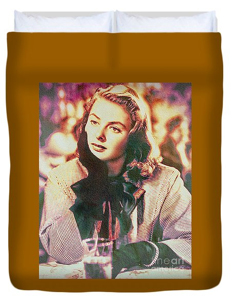 Ingrid Bergman - Movie Legend Duvet Cover