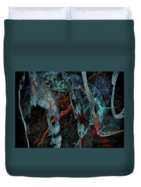 Inhabited Space Duvet Cover by Alex Galkin