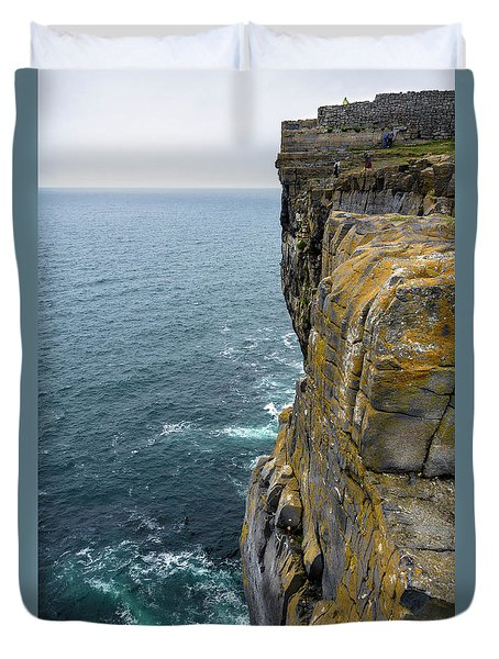 Duvet Cover featuring the photograph Inishmore Cliff And Dun Aengus  by RicardMN Photography