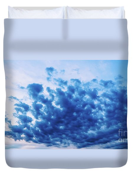 Duvet Cover featuring the photograph Ink Blot Sky by Colleen Kammerer