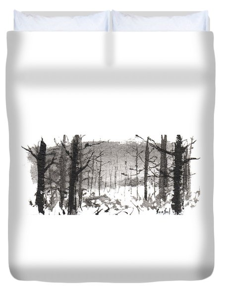 Ink Landscape 1 Duvet Cover