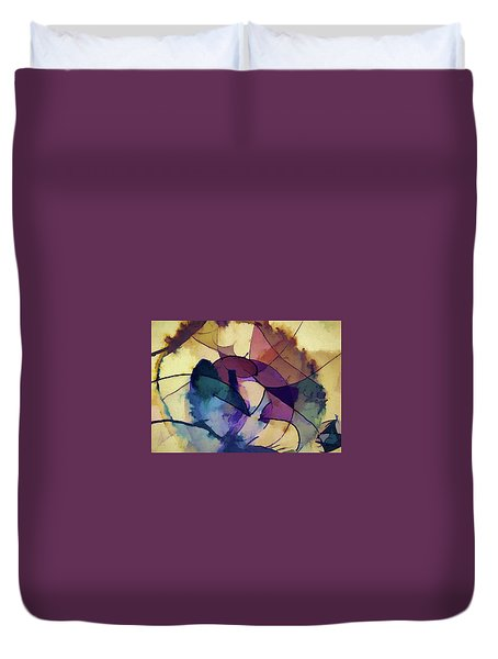 Ink Pie Duvet Cover by Alex Galkin