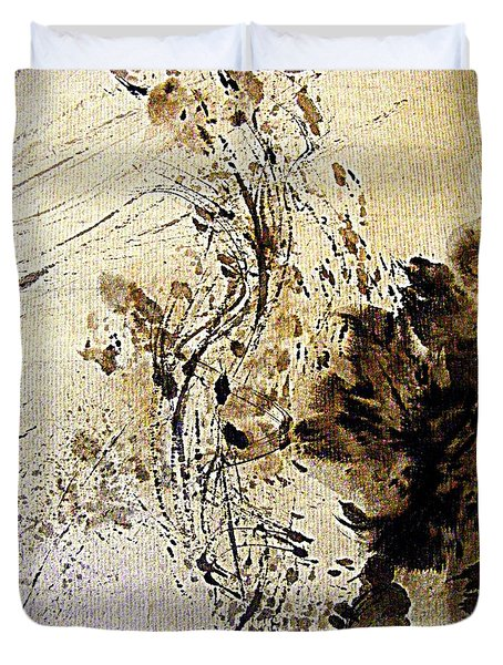 Ink Takes A Dance Duvet Cover