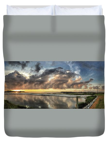 Inlet Sunrise Panorama Duvet Cover