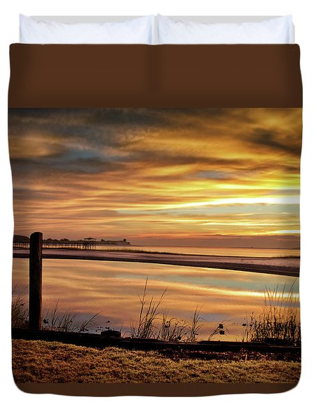 Inlet Watch At Dawn Duvet Cover