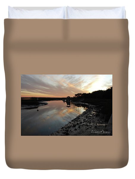 Inlet Sunset Duvet Cover