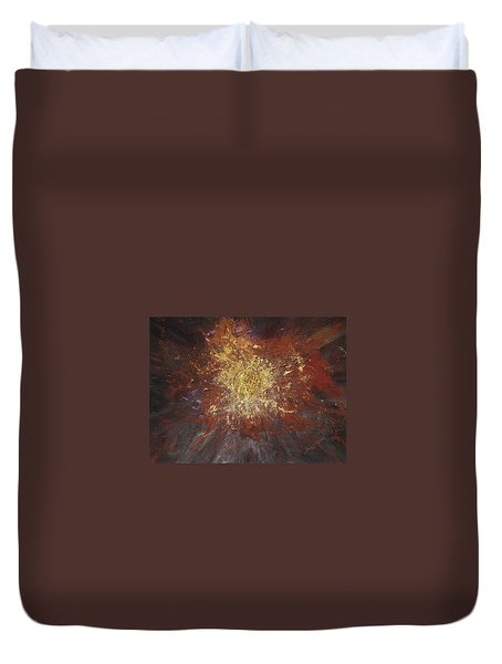 Duvet Cover featuring the painting Inner Fire by Michael Lucarelli