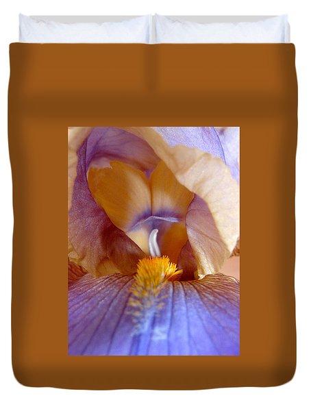 Inner Iris Series, Yellow Purple Duvet Cover