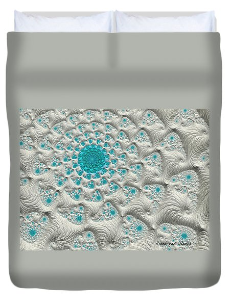 Duvet Cover featuring the digital art Inner Peace  by Riana Van Staden