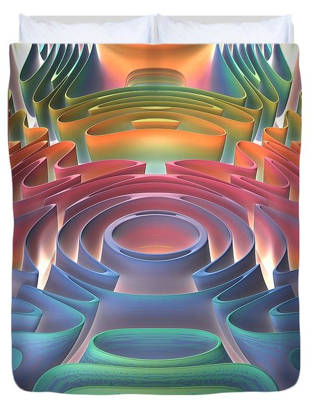 Duvet Cover featuring the digital art Inner Sanctum by Lyle Hatch