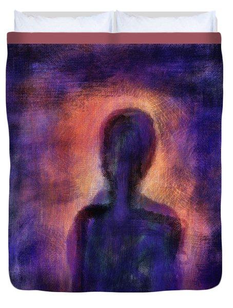 Duvet Cover featuring the digital art Inner Self by John Hansen