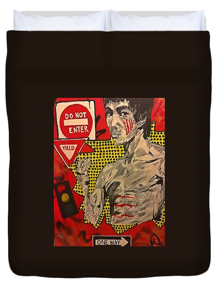 Inner Warrior  Duvet Cover by Miriam Moran