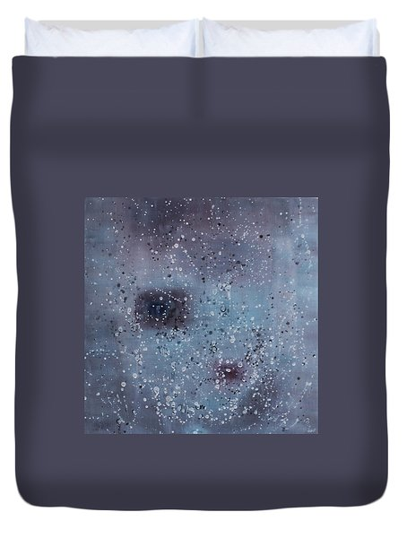 Duvet Cover featuring the painting Inner World... by Min Zou