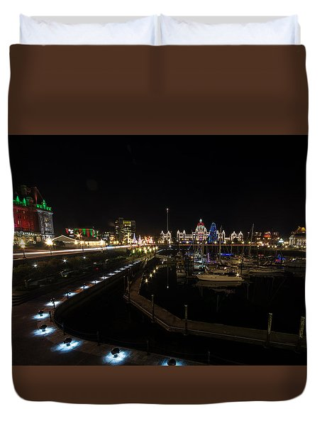 Inner Harbour Of Victoria Bc Duvet Cover